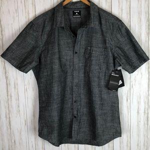 NWT Hurley Dark Blue Chambray Button Down Shirt XL
